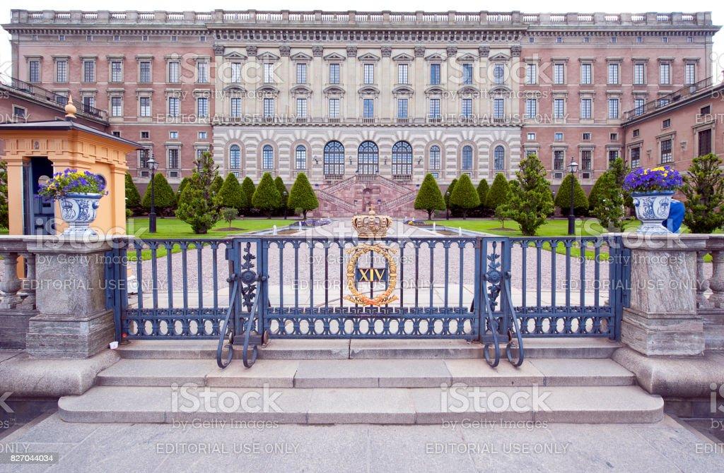 Royal Palace facade, Stockholm, Sweden stock photo