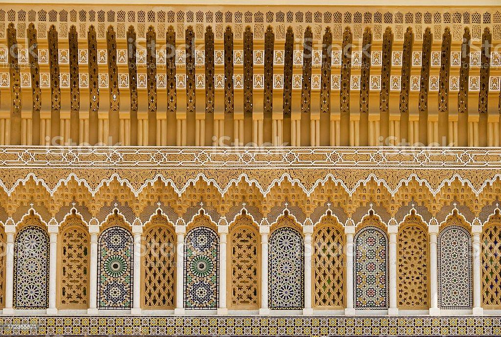 Royal Palace Fez Morocco royalty-free stock photo