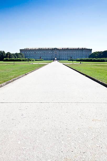Royal palace gardens stock photo