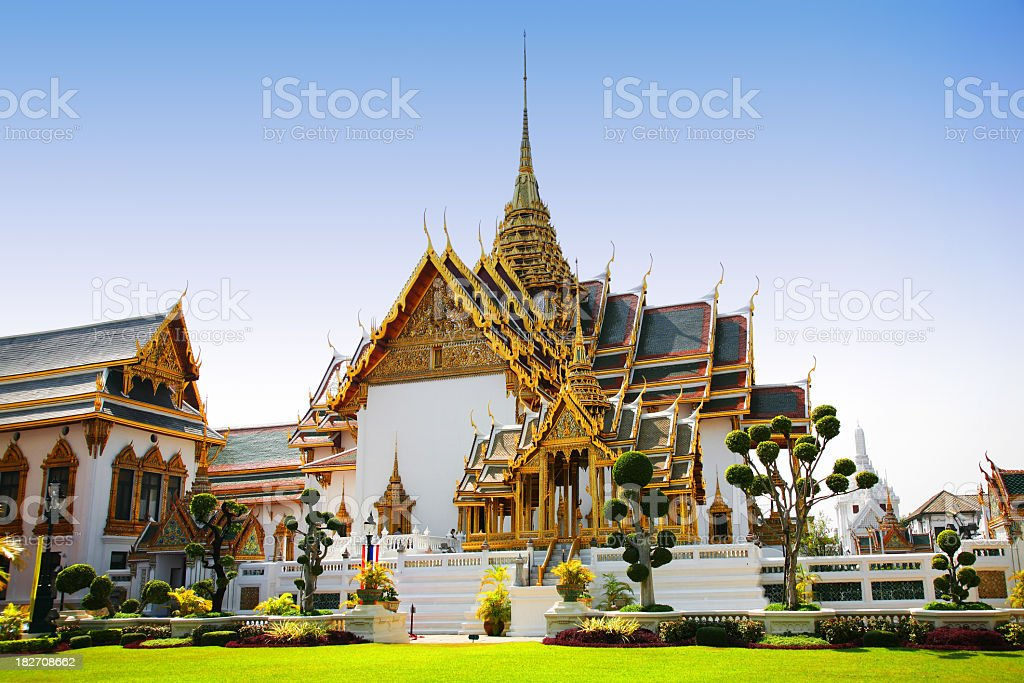 Royal Palace in Bangkok stock photo