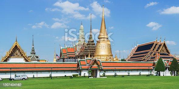 Bangkok, Thailand February 25, 2020: The Temple of the Emerald Buddha and Grand Palace at Bangkok Thailand