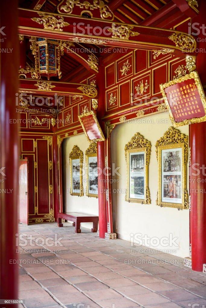 Royal Palace in Hue, Vietnam stock photo