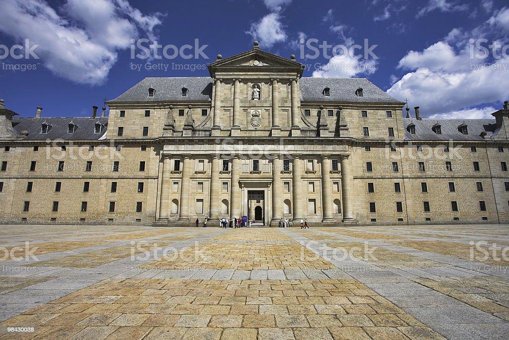 Royal palace in Madrid royalty-free stock photo