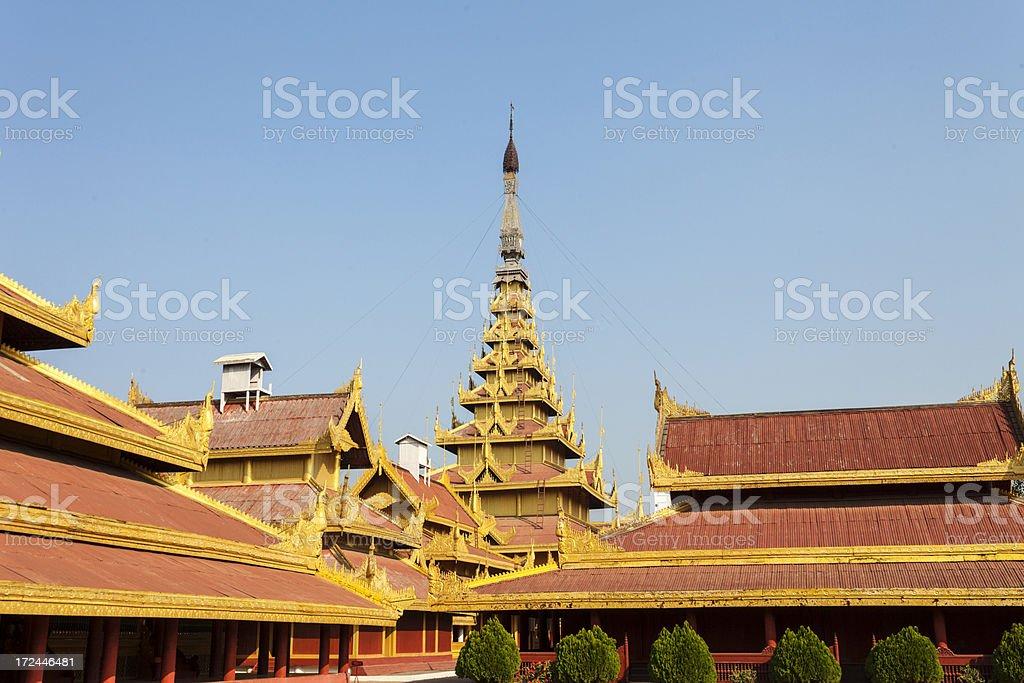 Royal Palace in Mandalay, Myanmar stock photo