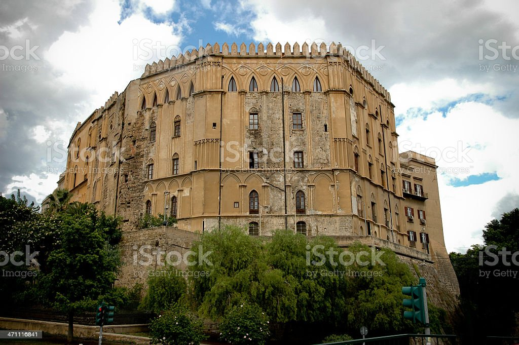 Royal Palace in Palermo stock photo