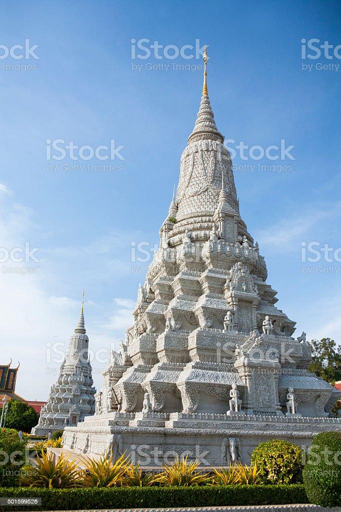 Royal Palace in Phnom Pehn, Cambodia. stock photo