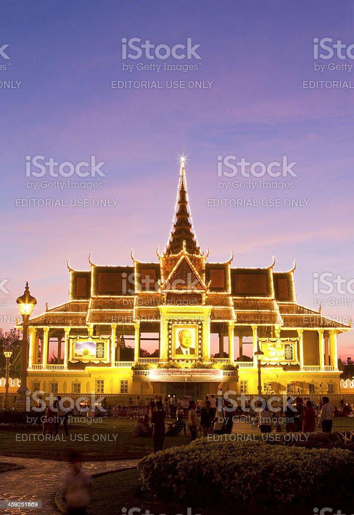 Royal Palace in Phnom Penh in Cambodia royalty-free stock photo