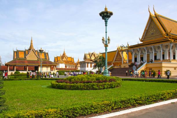 Royal Palace in Phnom Penh stock photo