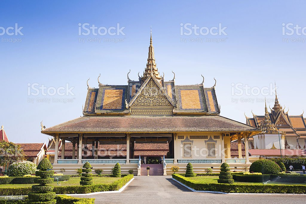 Royal Palace in Phnom Penh royalty-free stock photo