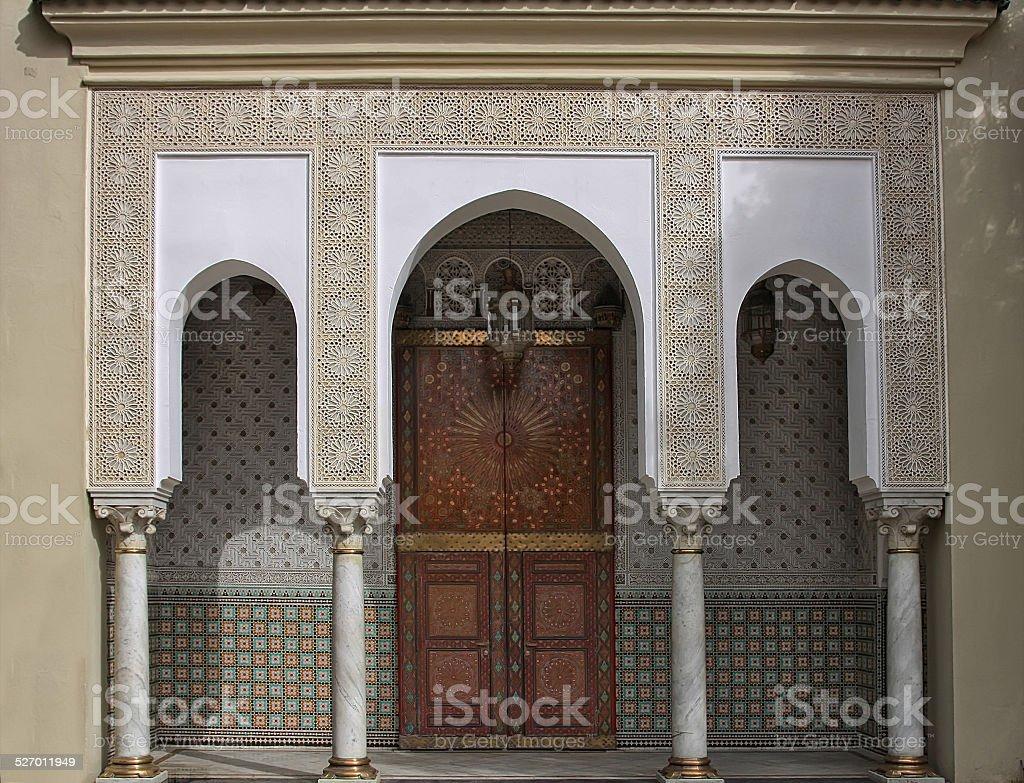 Gate at Royal palace in Rabat, Morocco