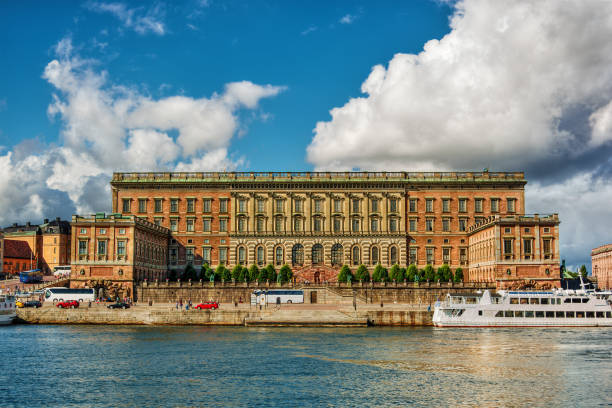 Royal Palace in Stockholm HDR stock photo