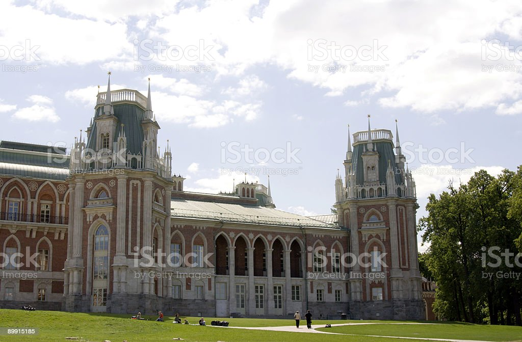 royal palace in tsaritsyno moscow russia stock photo