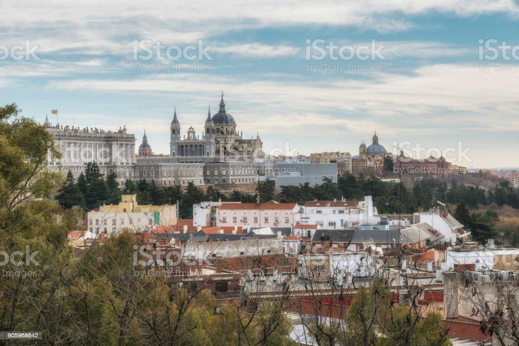 Royal Palace. Madrid, Spain. stock photo