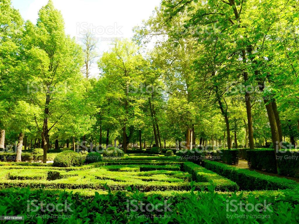 Jardín real del Palacio de Aranjuez - foto de stock