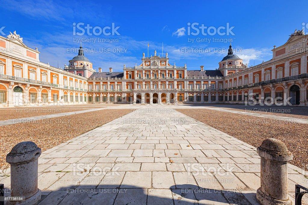 Palacio real de Aranjuez, principal corte - foto de stock