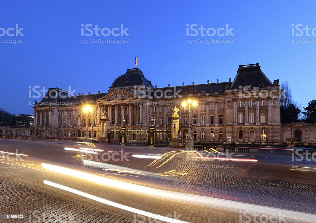 Royal Palace of Brussels, Belgium. stock photo