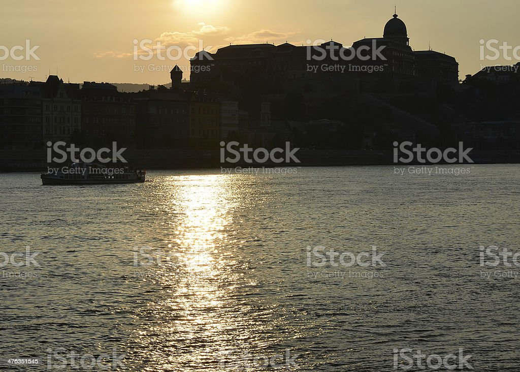 Royal Palace of Buda at sunset, Budapest, Hungary royalty-free stock photo