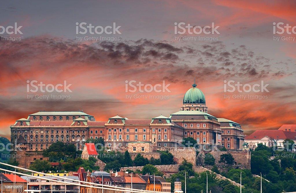 Royal Palace of Buda, Budapest - Hungary stock photo