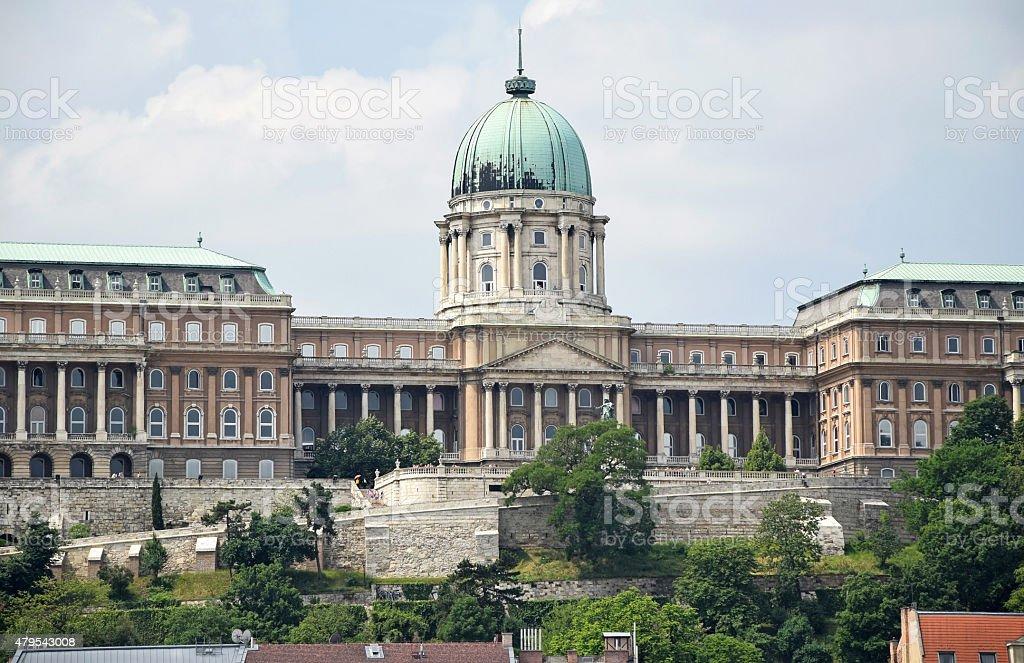 Royal Palace of Buda, Budapest, Hungary stock photo