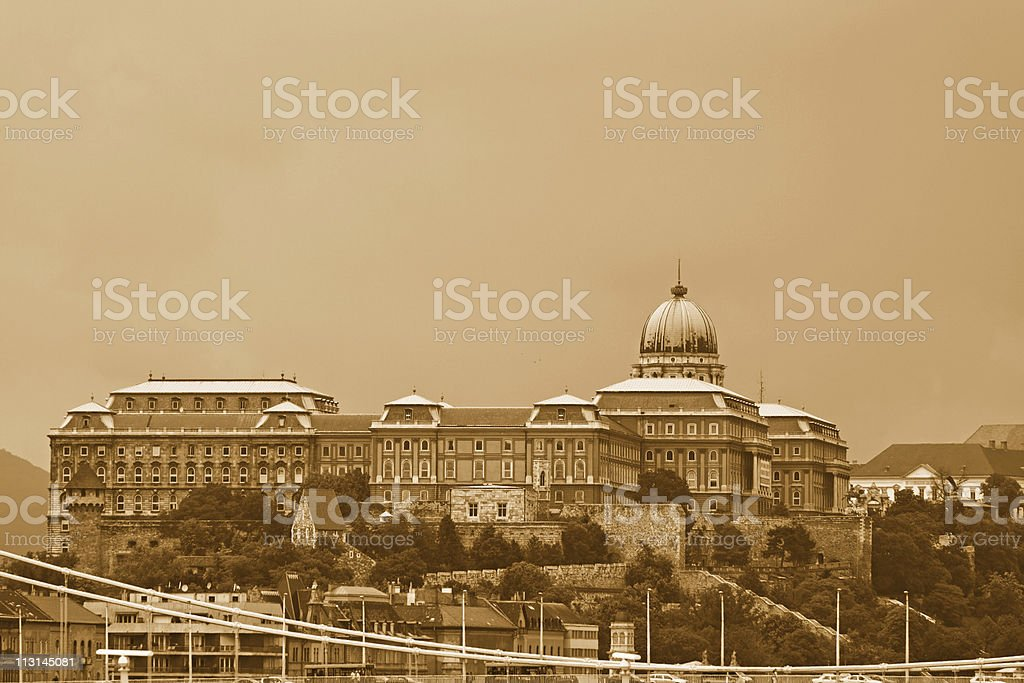 Royal Palace of Buda royalty-free stock photo