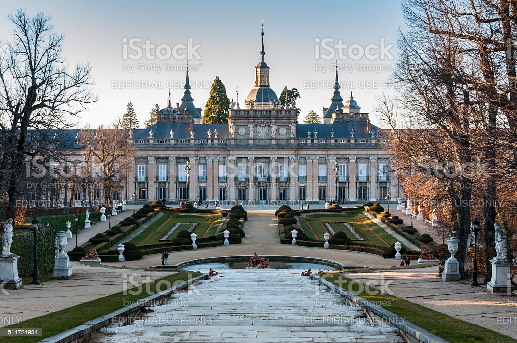 Royal Palace of La Granja de San Ildefonso stock photo