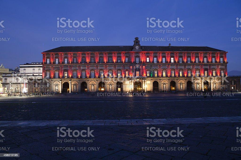 Palazzo reale di Napoli, Italia. - foto stock