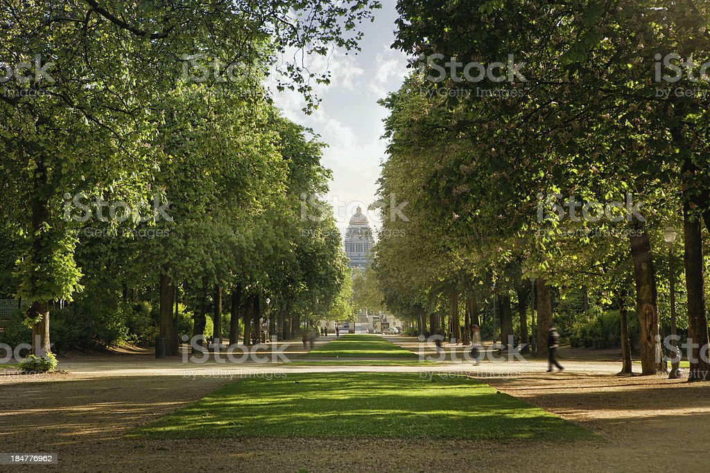 Royal park in Brussels - Royalty-free Backgrounds Stock Photo