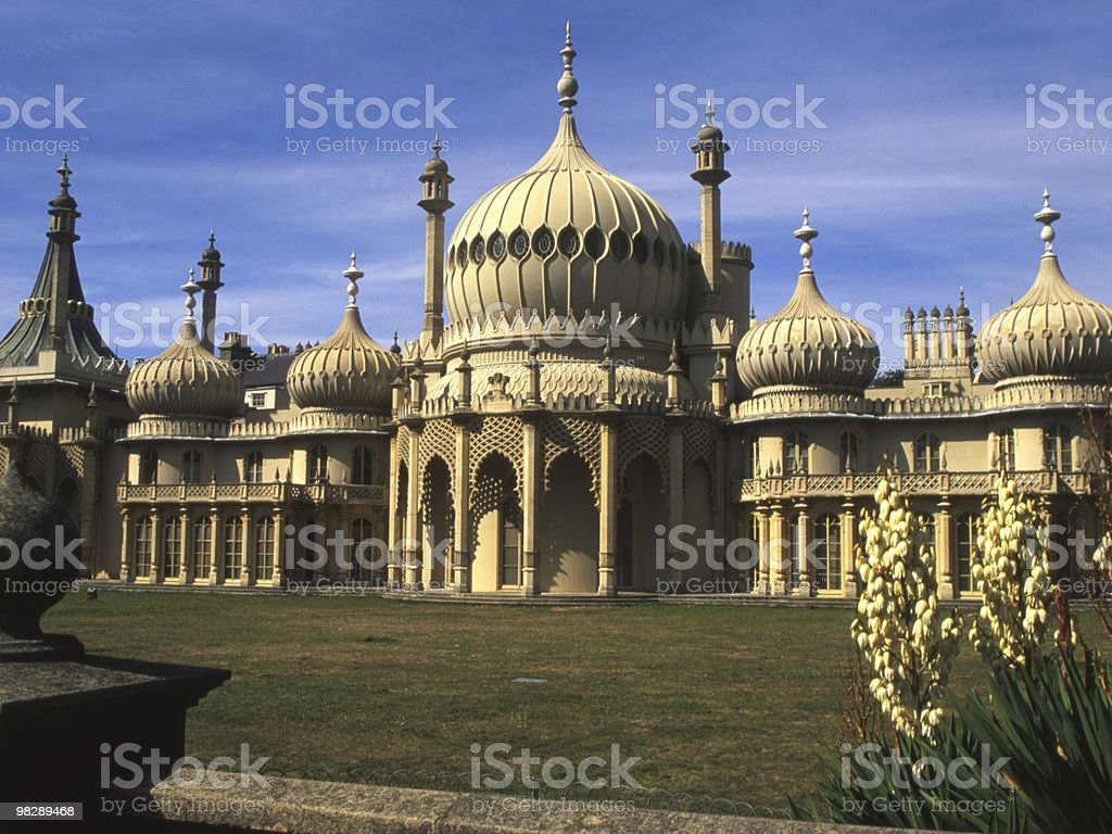 Royal Pavilion at Brighton. England royalty-free stock photo