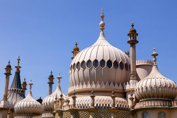 Royal Pavilion domes and minarets Brighton East Sussex Southern England UK stock photo