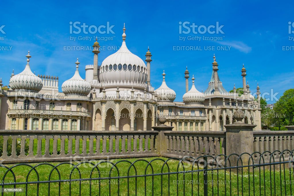 Royal Pavilion in Brighton in East Sussex UK stock photo