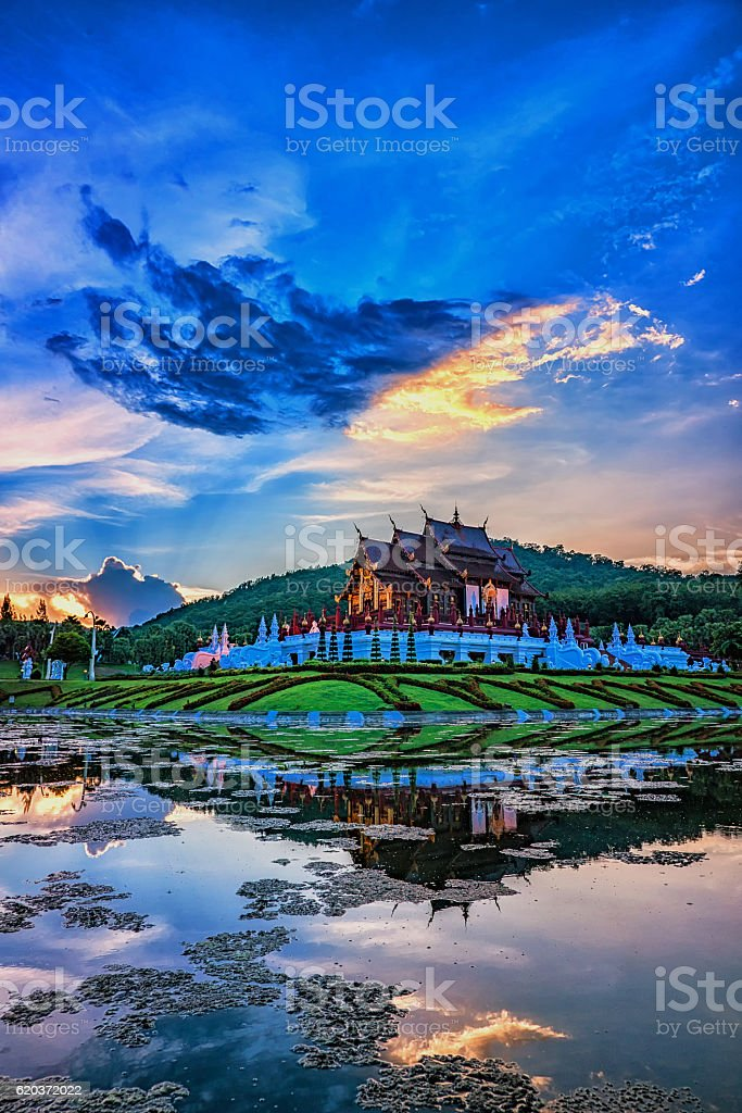 Royal Pavilion or Ho Kham Luang. foto de stock royalty-free