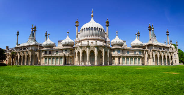 Royal Pavilion panorama Brighton East Sussex Southern England UK stock photo