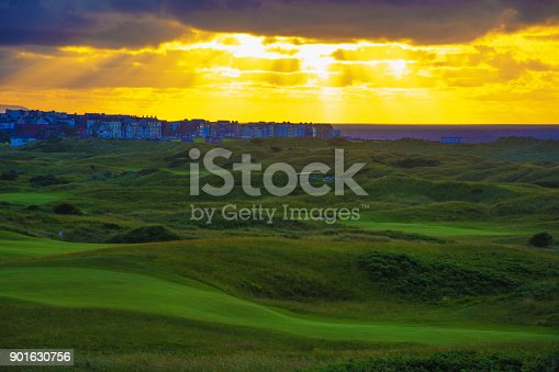 Sun Breaks through Clouds at Royal Portrush Golf Club