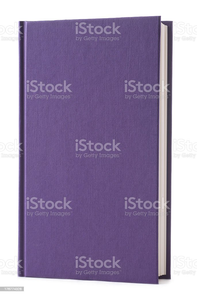 Royal Purple hardback book standing upright  royalty-free stock photo