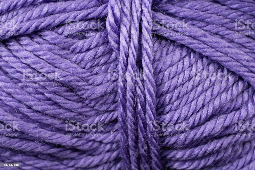 Royal Purple Yarn Texture Close Up stock photo