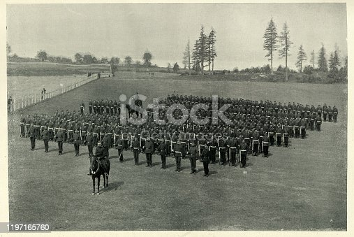 istock Royal Regiment of Canadian infantry on parade, 19th Century 1197165760
