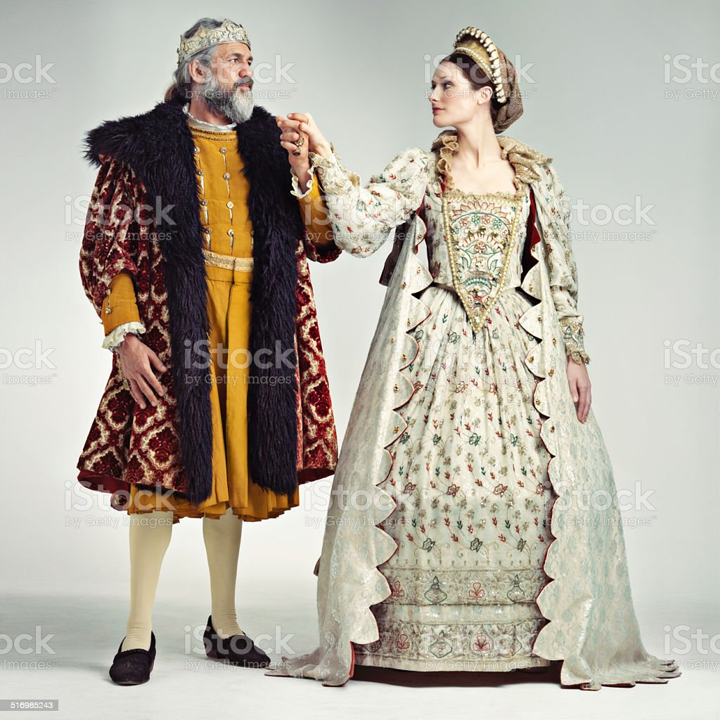Royal romance stock photo