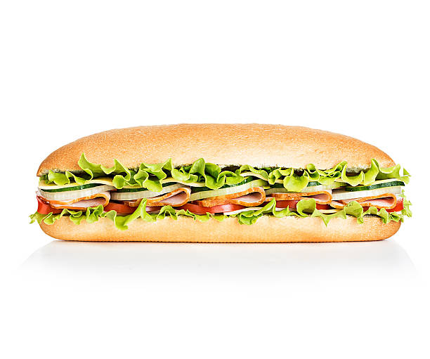 Royal sandwich isolated on white background Royal sandwich isolated on white background submarine sandwich stock pictures, royalty-free photos & images