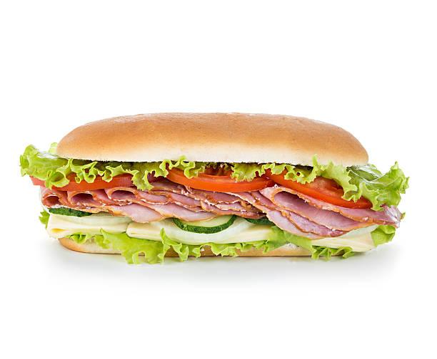 Royal sandwich isolated on white background stock photo