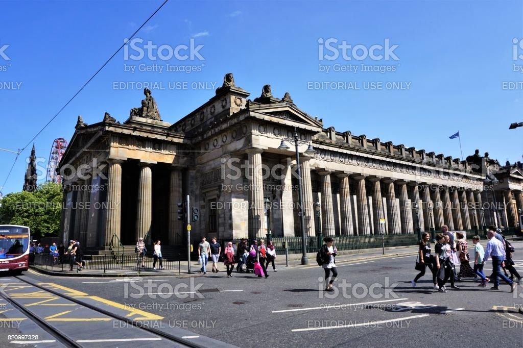 Royal Scottish Academy,  Princes St stock photo