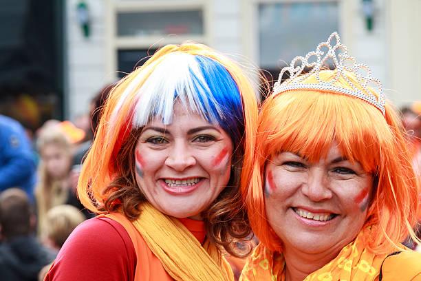 Royal smiles stock photo