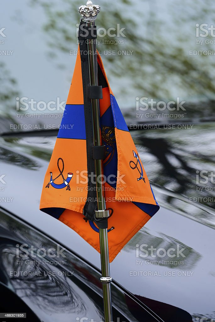 Royal Standard of the Netherlands stock photo