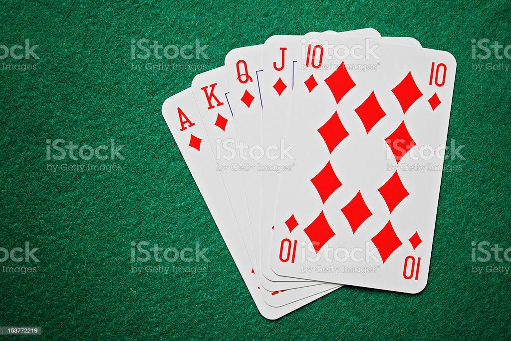 Royal straight flush poker cards royalty-free stock photo