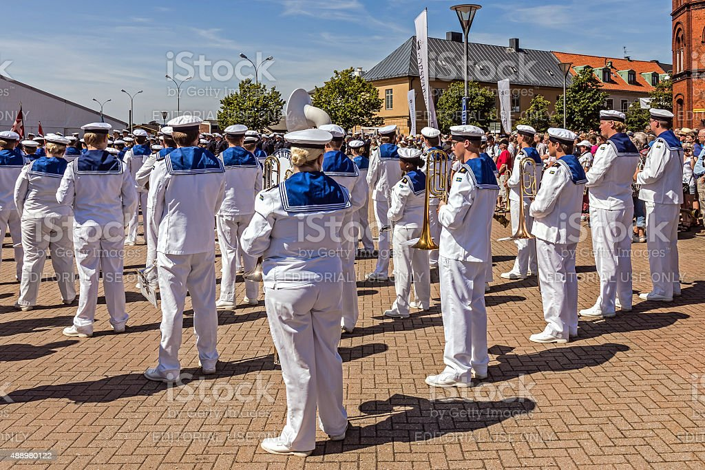Royal Swedish Navy Cadet Band stock photo