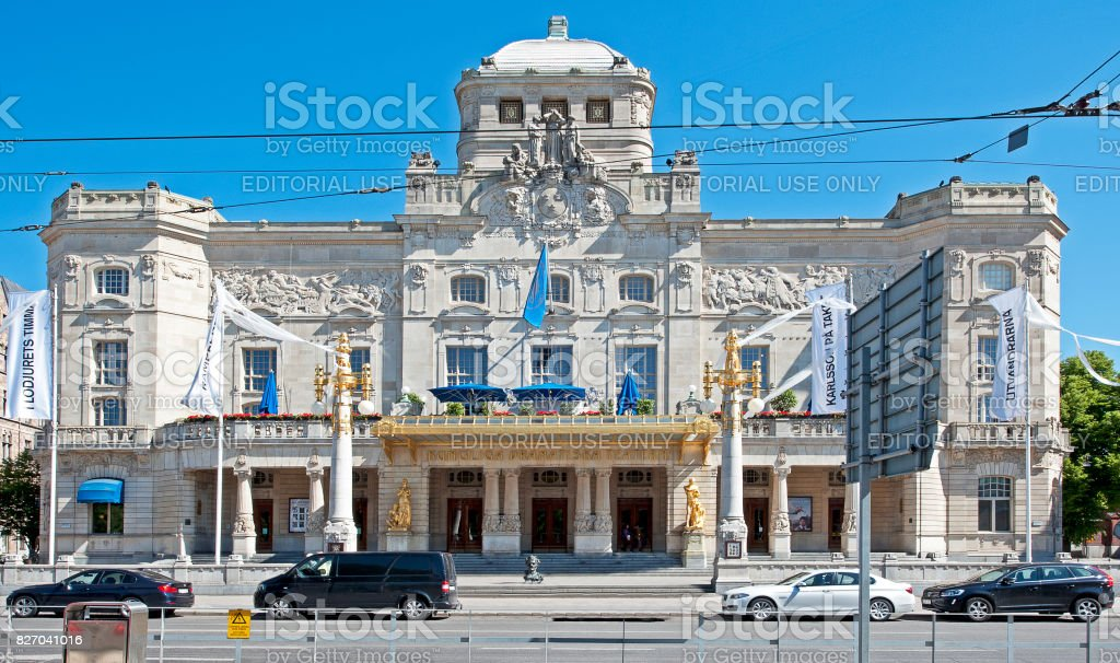 Royal Swedish Opera House facade, Stockholm, Sweden stock photo