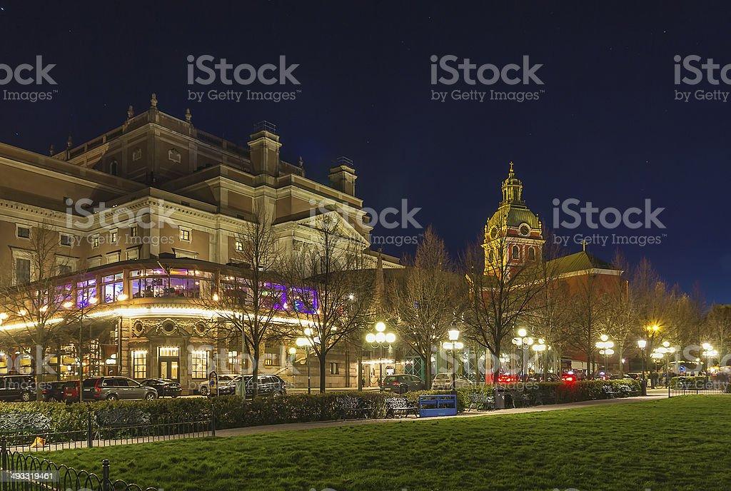 Royal Swedish Opera, Stockholm stock photo