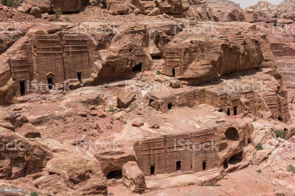 Royal tomb, Petra, Jordan royalty-free stock photo