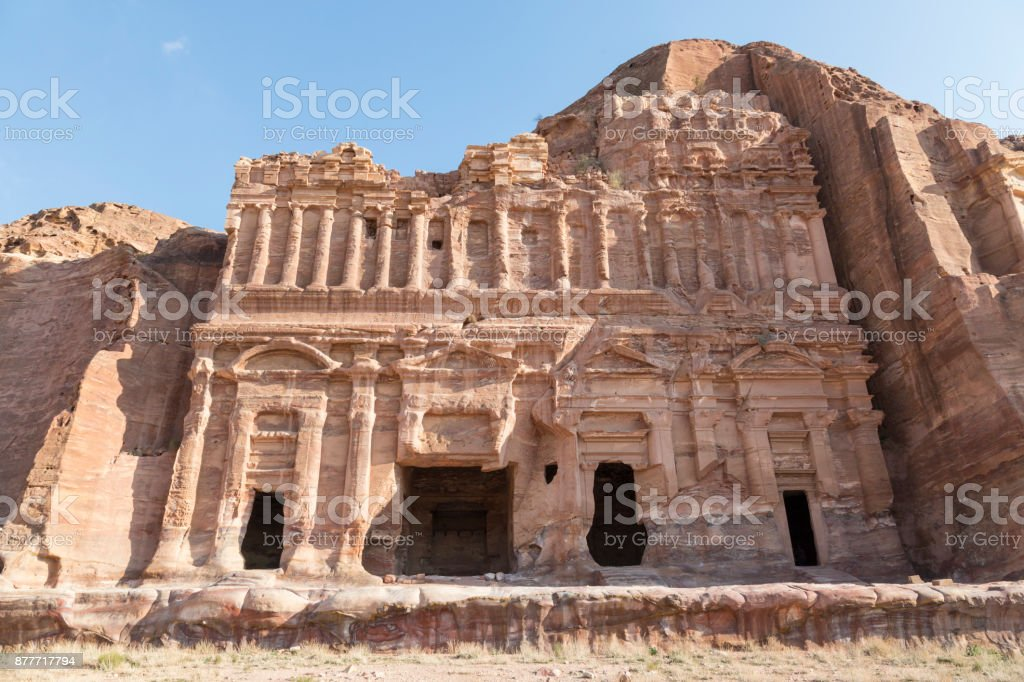 Royal Tombs in the ancient city of Petra, Jordan stock photo