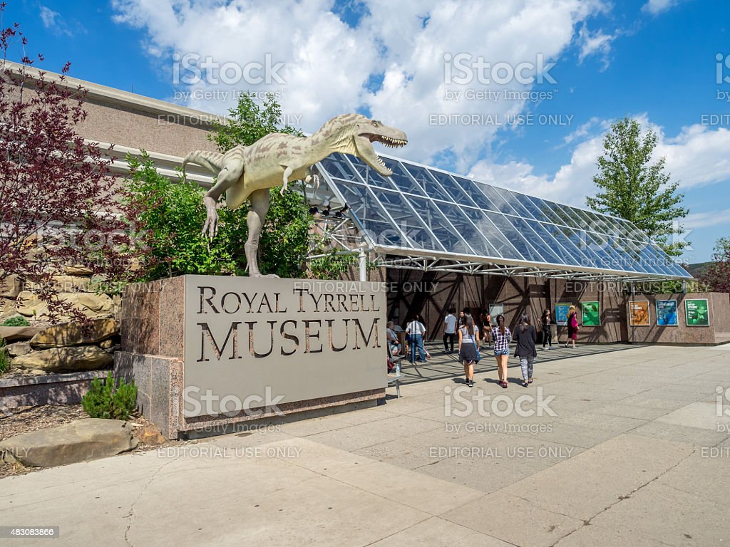 Museo Royal Tyrrell - foto stock