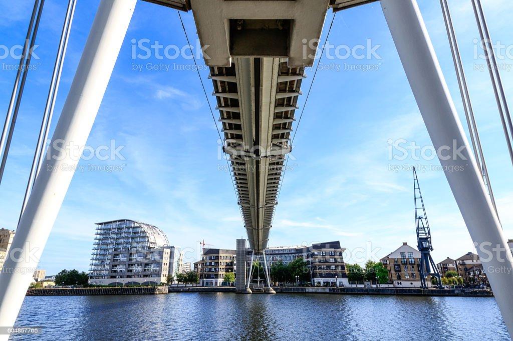 Royal Victoria Bridge in London stock photo